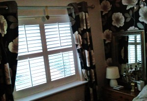Bedroom Shutters with Curtains, no loss of light